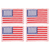American Flag Iron-On Appliques